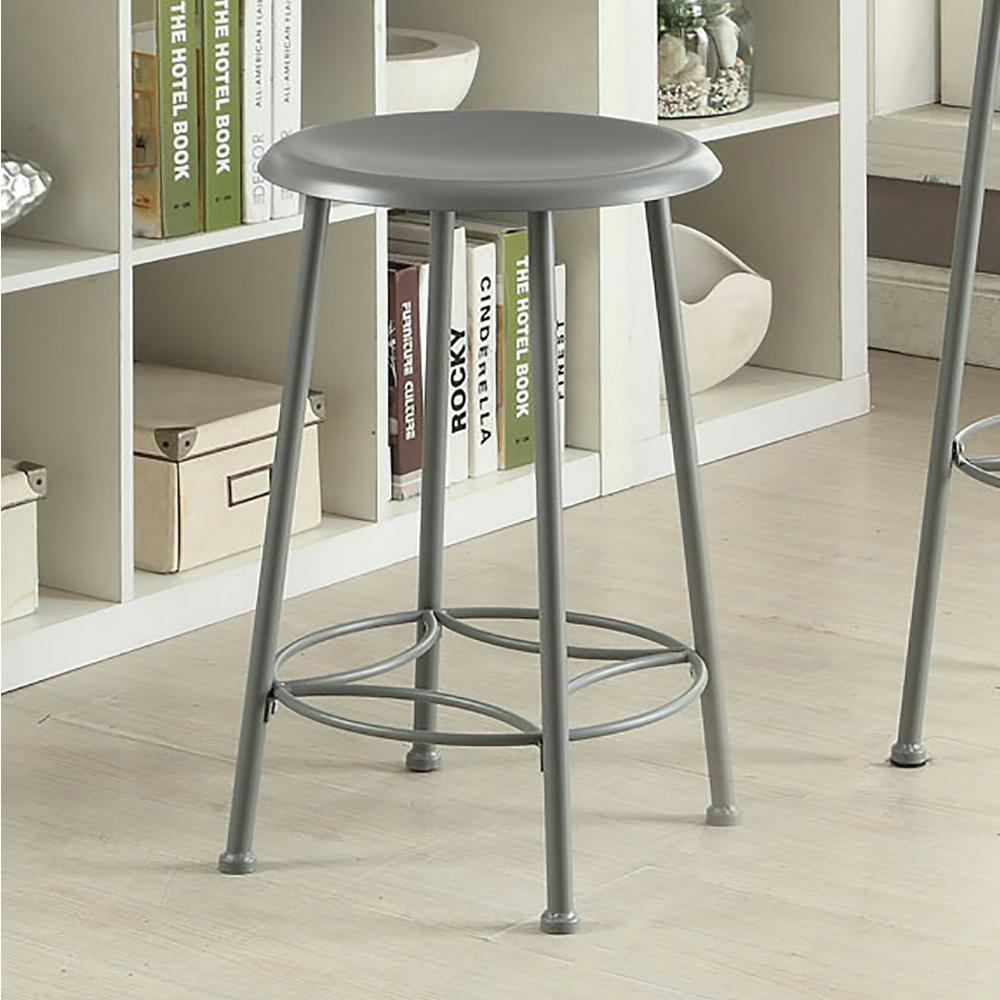 Carolina Cottage Whitman 24 In Gunmetal Bar Stool Cf2417