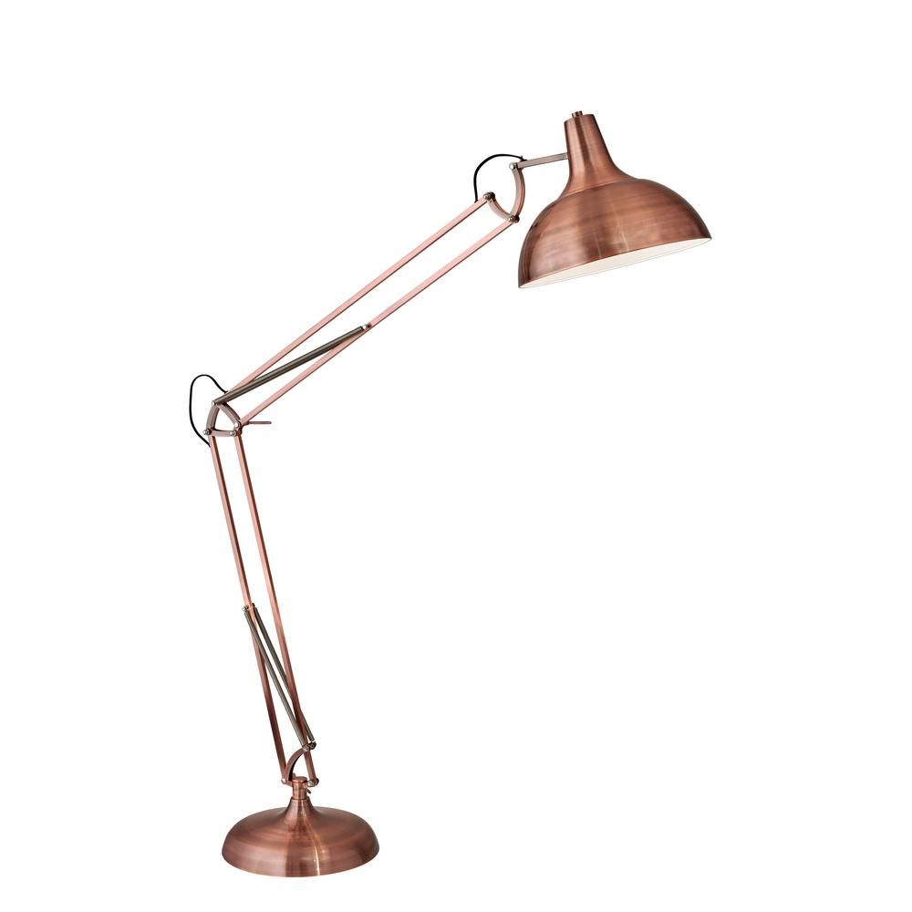 Adesso Atlas 77 In Copper Floor Lamp 3366 20 The Home Depot
