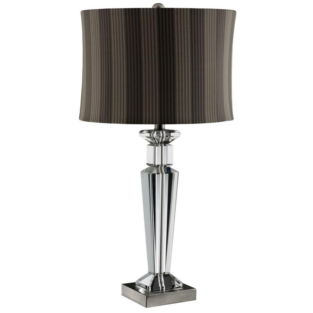 Filament Design Sonoma 29 in. Antique Nickel Incandescent Table Lamp