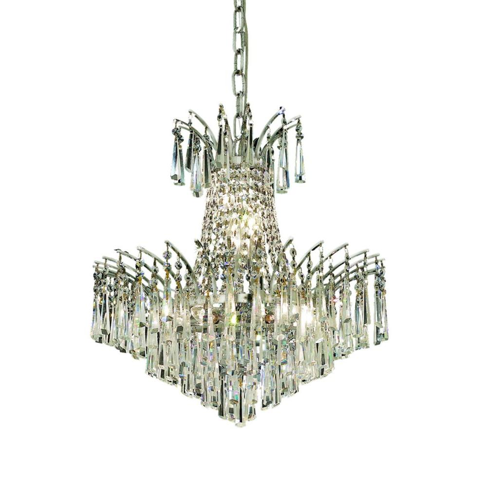 Elegant Lighting 8-Light Chrome Chandelier with Clear Crystal