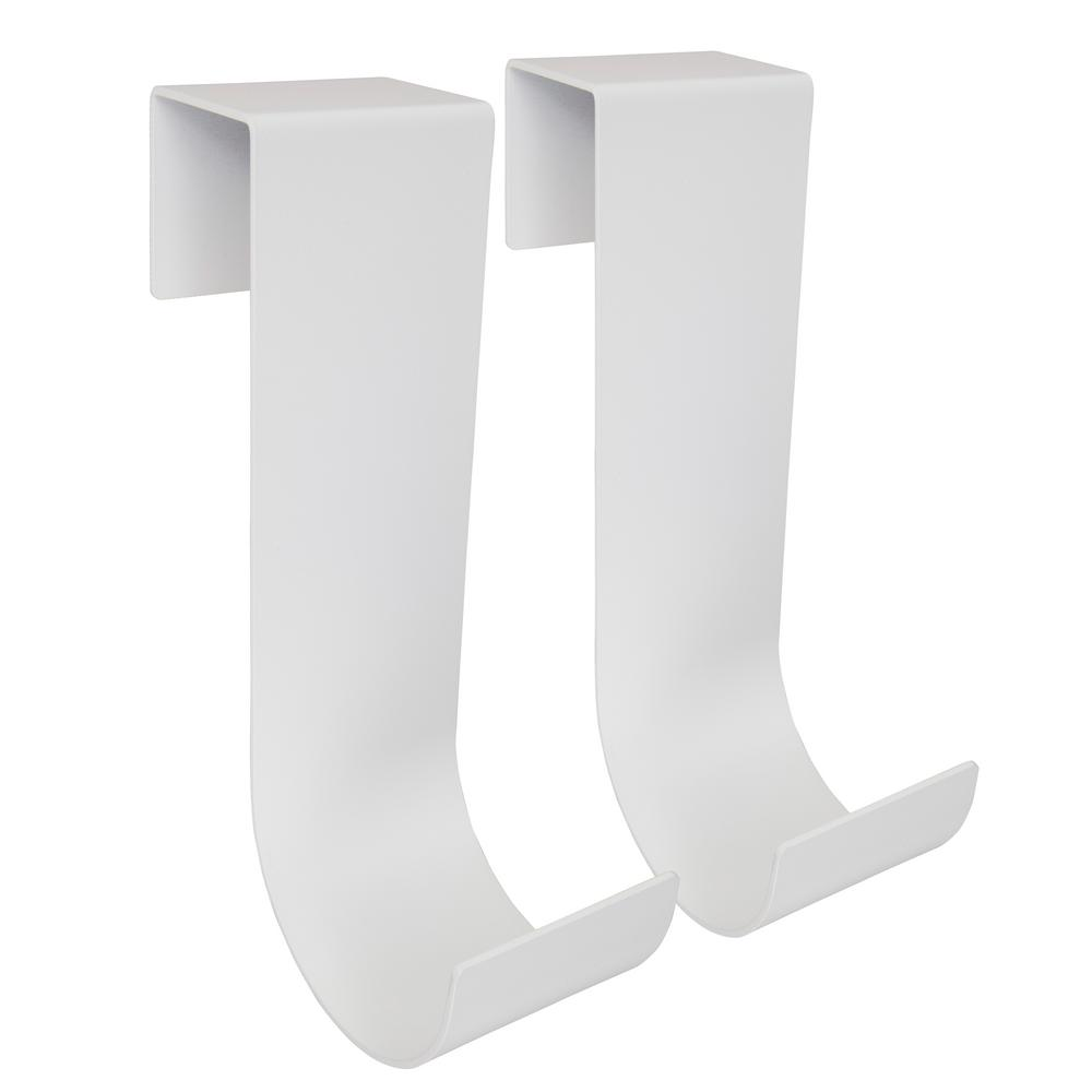 10 in. White Aluminum Slip On Fence Hook Fits 1-3/4 in.