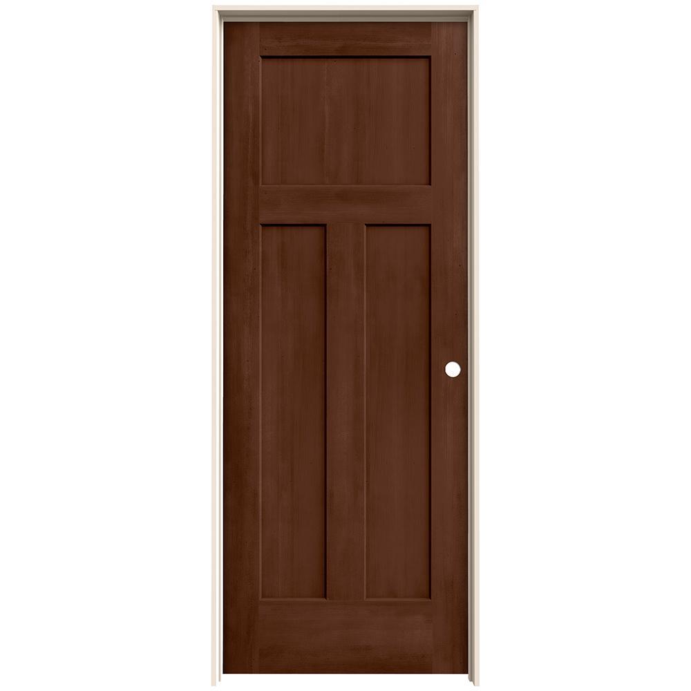 Brown Prehung Doors Interior Closet Doors The Home Depot