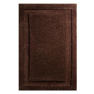 Click here to buy interDesign 34 inch x 21 inch Spa Bath Rug in Chocolate by interDesign.