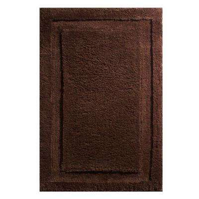 34 in. x 21 in. Spa Bath Rug in Chocolate