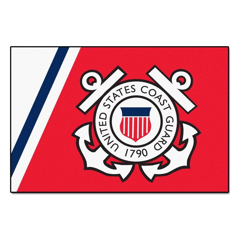FANMATS U.S. Coast Guard 4 ft. x 6 ft. Area Rug