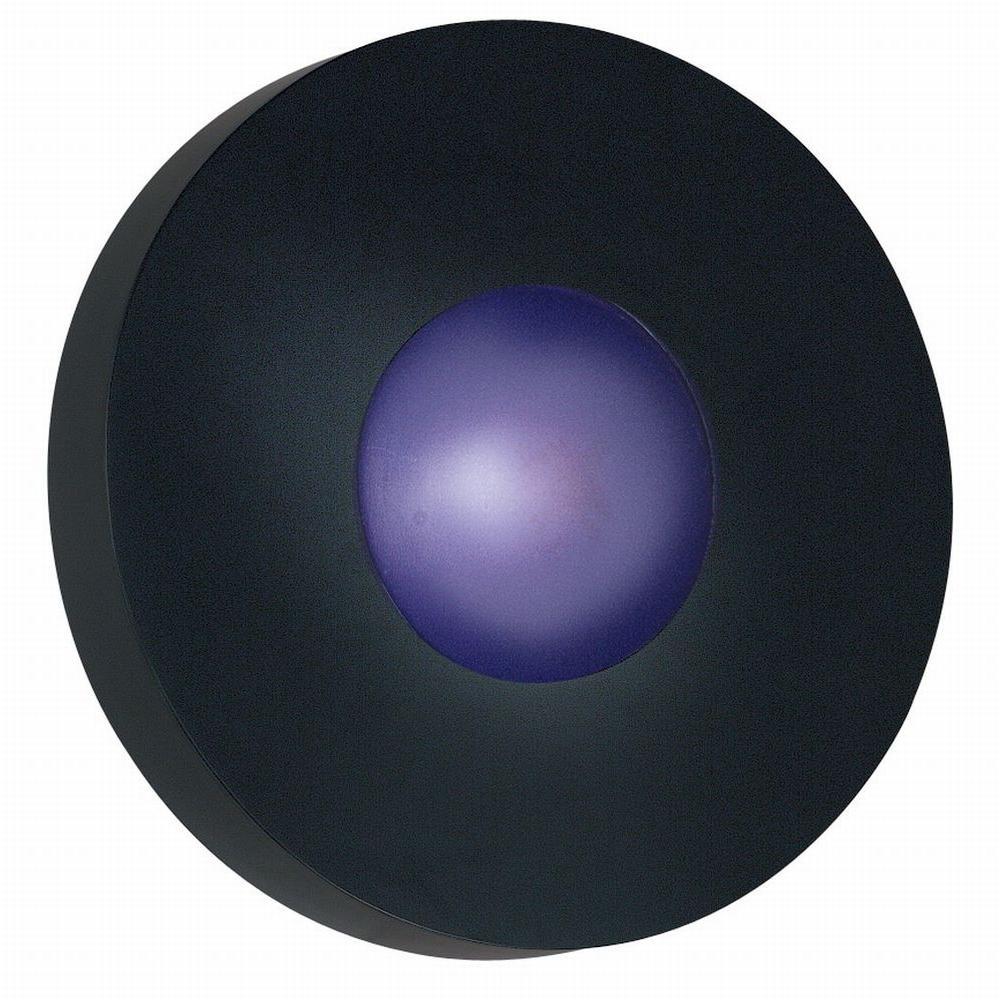 Kenroy Home Burst 1-Light Black Large Round Wall Sconce