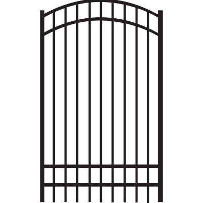 Natural Reflections Standard-Duty 4 ft. W x 6 ft. H Black Aluminum Arched Pre-Assembled Fence Gate