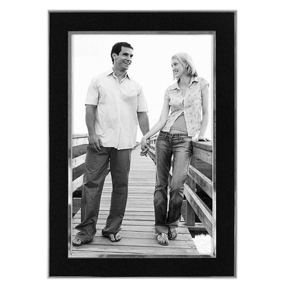 Home Decorators Collection Kate 1-Opening 4 in. x 6 in. Sleek Black Picture Frame