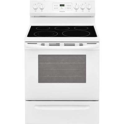 30 in. 5.3 cu. ft. Electric Range with Self-Cleaning Oven in White