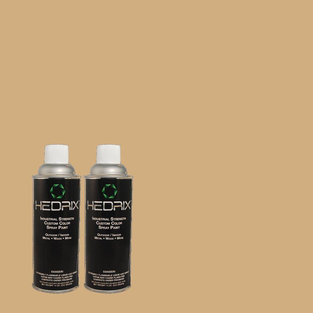 Hedrix 11 oz. Match of PIC-50 Buffed Low Lustre Custom Spray Paint (2-Pack)