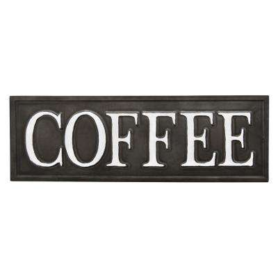 4 in. Metal Novelty Sign-Coffee