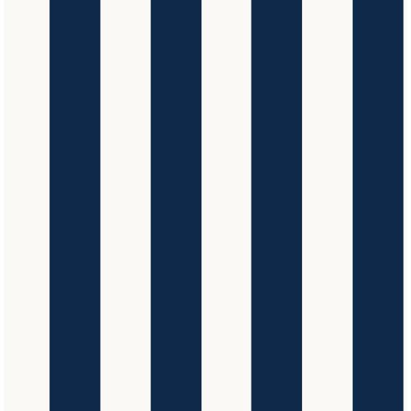 Stripe Navy Paper Strippable Roll (Covers 56 sq. ft.)