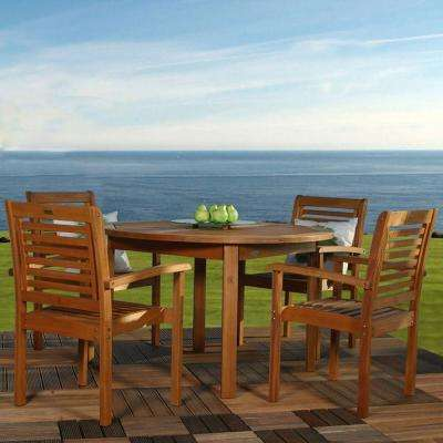 Milano 5-Piece Round Patio Dining Set