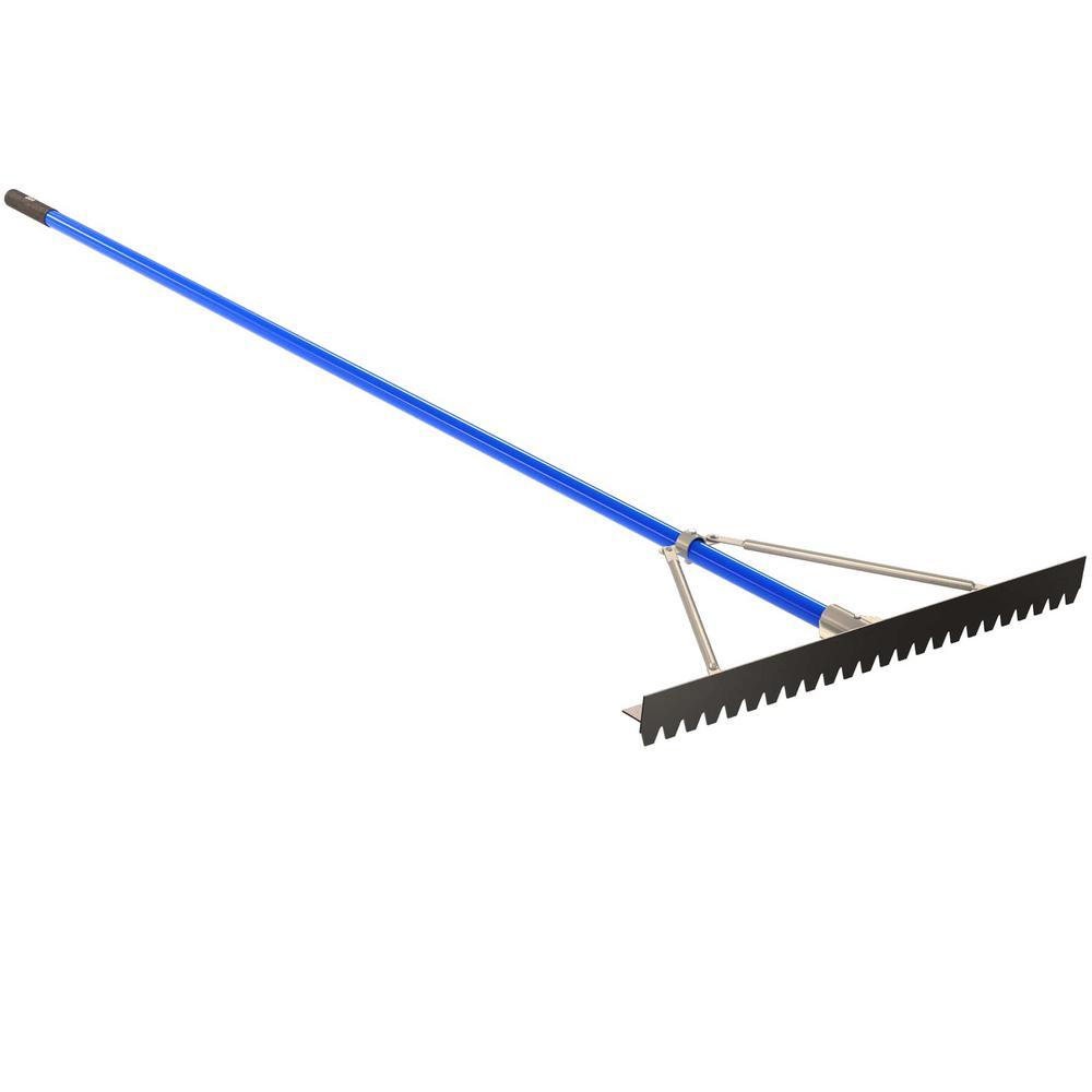 Heavy Duty Tarmac Rake  16 Rounded Teeth Spreading Road Works Building Tool