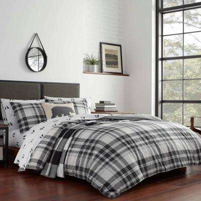 3-Piece Coal Creek Plaid King Comforter Set