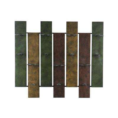 Navarra 32 in. W x 8 in. D x 27-1/4 in. H Wall Mount Wine Rack