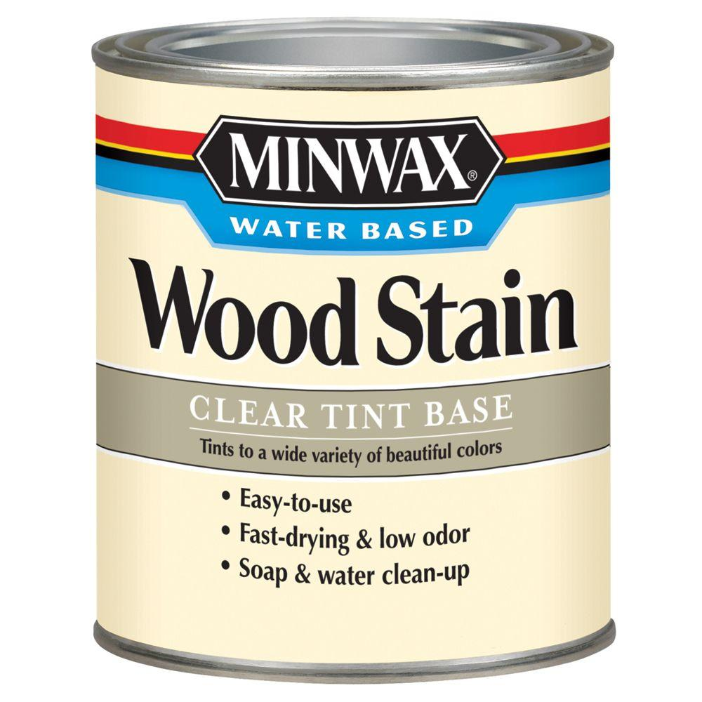 1 qt. Clear Tint Water Based Wood Stain (4-Pack)