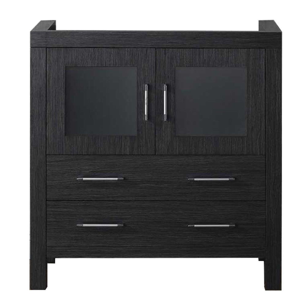 Virtu usa dior 32 in w bath vanity cabinet only in zebra - Bathroom vanities 32 inches wide ...