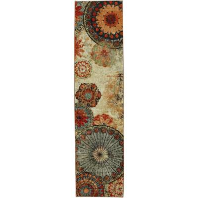 Caravan Medallion Multi 2 ft. x 5 ft. Runner
