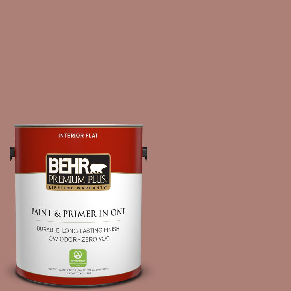 1-gal. #S170-5 Smoke Bush Rose Flat Interior Paint