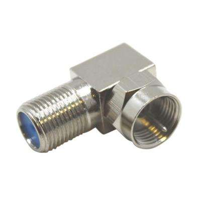 90° Coaxial F-Type Adapters (2 per Pack)