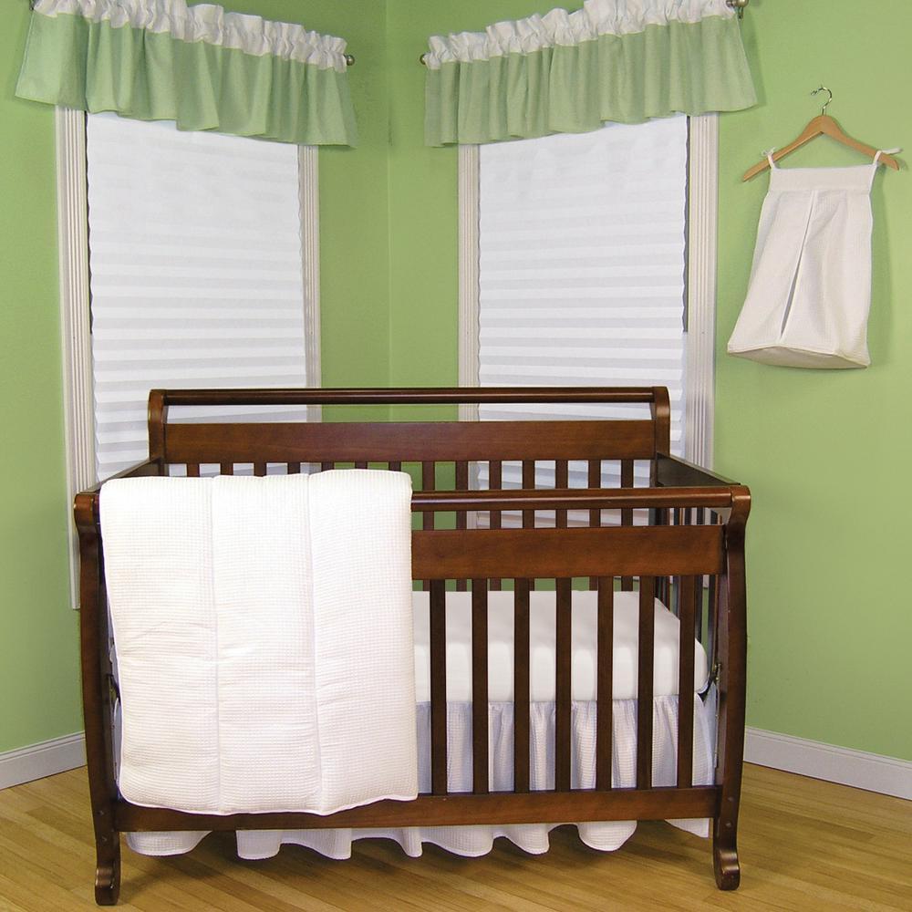 Pique White 3-Piece Crib Bedding Set