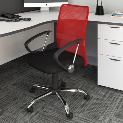 Workspace Office Chair with Contoured Red Mesh Back