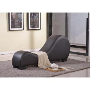 Dark Chocolate Faux Leather Chaise Lounge  sc 1 st  Home Depot : faux leather chaise lounge - Sectionals, Sofas & Couches