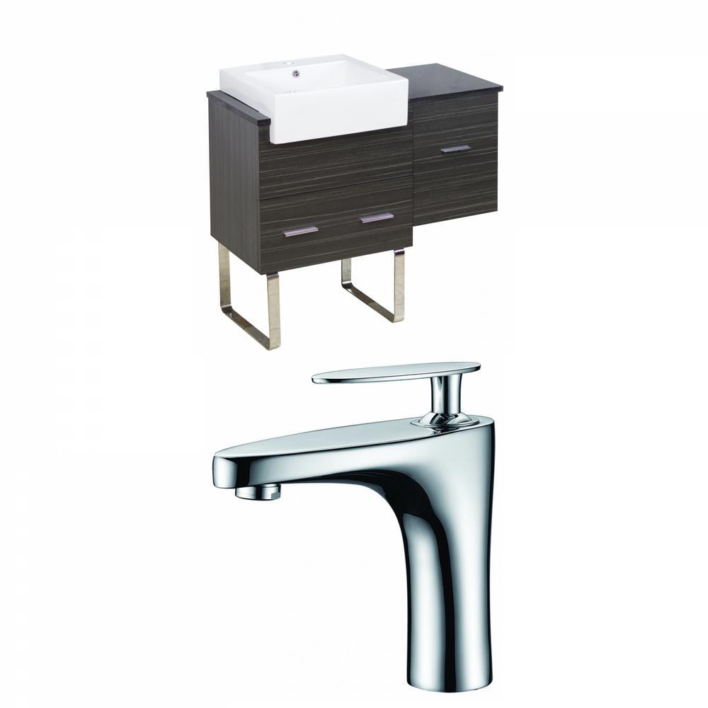 16-Gauge Sinks 36.75 in. W x 19 in. D Bath Vanity in Dawn ...