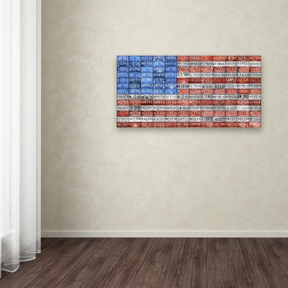 """10 in. x 19 in. """"Michigan Flag"""" by Design Turnpike Printed"""