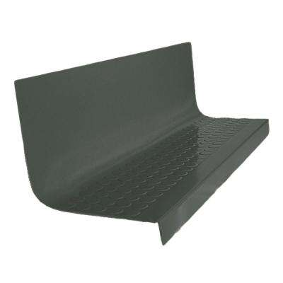 Vantage Circular Profile Black Brown 20.4 in. x 72 in. Rubber Square Nose Stair Tread