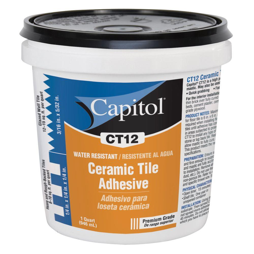 Capitol 1-qt. High Performance Ceramic Tile Adhesive and Mastic