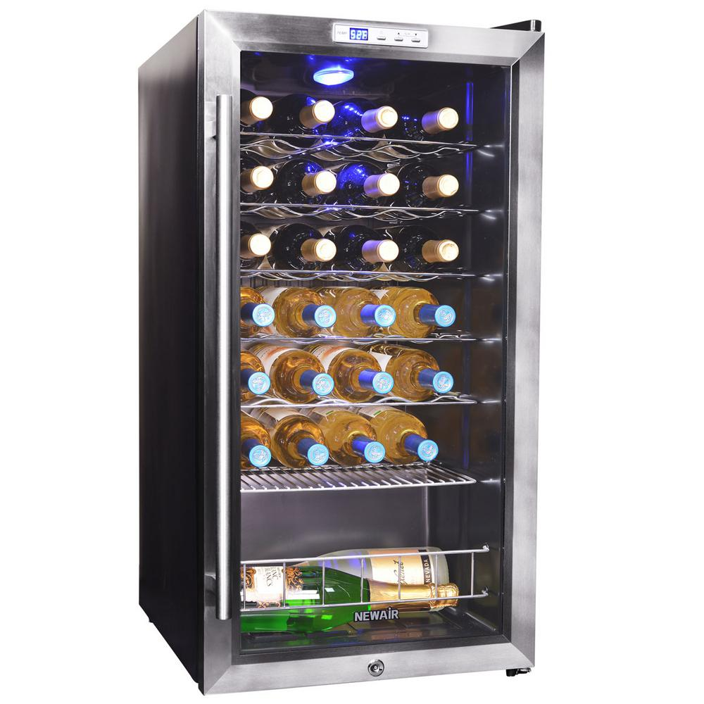 Newair 27 bottle compressor wine cooler awc 270e the for Modern homes 8 bottle wine cooler