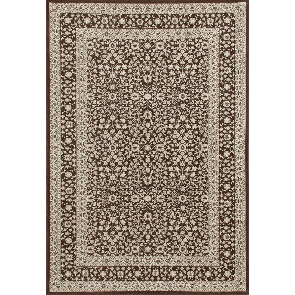 art carpet kensington microfloral brown 10 ft 11 in x 15 ft area rug 841864106992 the home. Black Bedroom Furniture Sets. Home Design Ideas