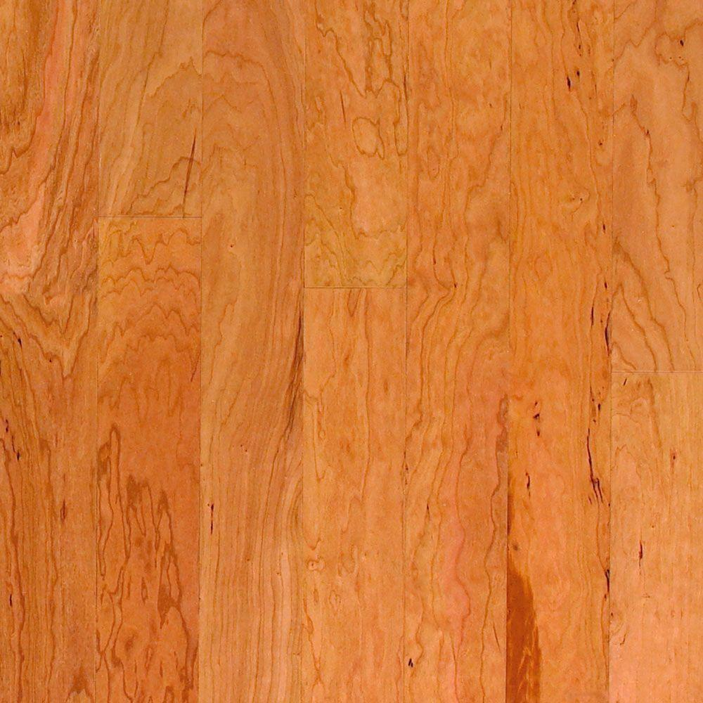 Millstead Take Home Sample American Cherry Natural Engineered Click Wood Flooring 5 In. X 7 In.
