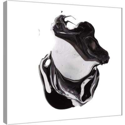 15.in x 15.in ''Polished in Black and White'' Printed Canvas Wall Art