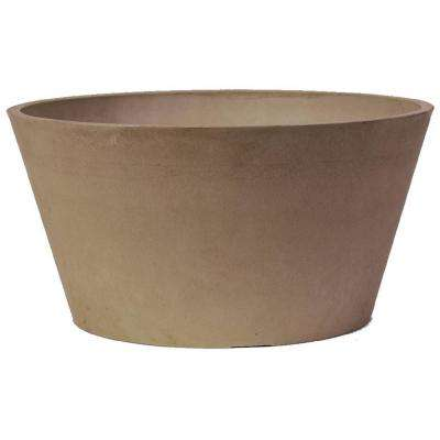 Sleek 10 in. x 5 in. Taupe PSW Bulb Pan Pot