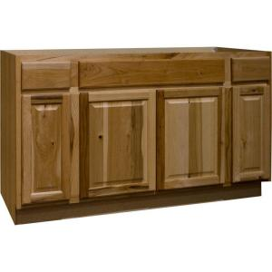 hickory kitchen cabinets home depot hampton bay hampton assembled 60x34 5x24 in sink base 7026