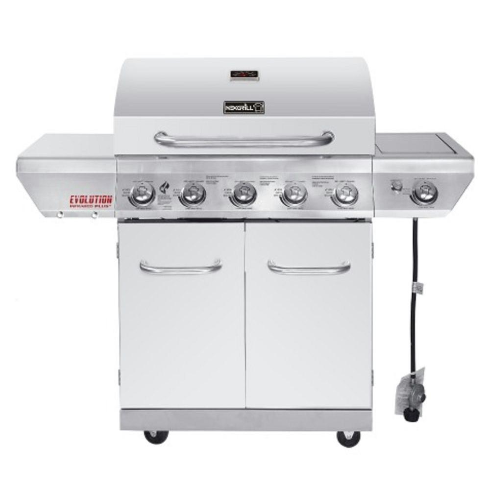 Nexgrill Evolution 5-Burner Propane Gas Grill in Stainless Steel ...