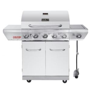 Click here to buy Nexgrill Evolution 5-Burner Propane Gas Grill in Stainless Steel with Side Burner and Infrared Technology by Nexgrill.