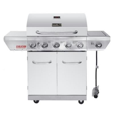 Evolution 5-Burner Propane Gas Grill in Stainless Steel with Side Burner and Infrared Technology