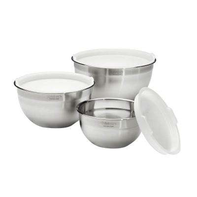 3-Piece Stainless Steel Mixing Bowl Set with Lids