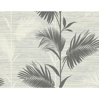 Away On Holiday Black Palm Wallpaper Sample