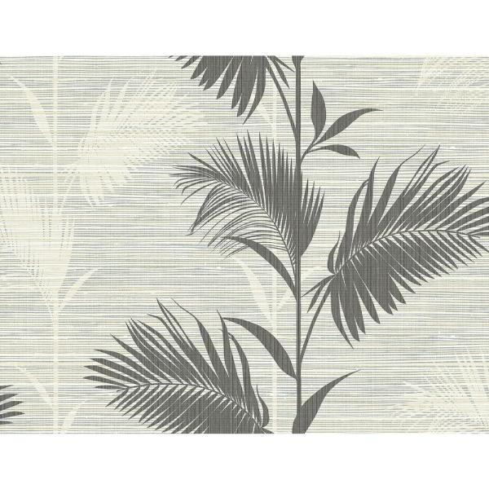 Kenneth James Away On Holiday Black Palm Wallpaper Sample PS40300SAM