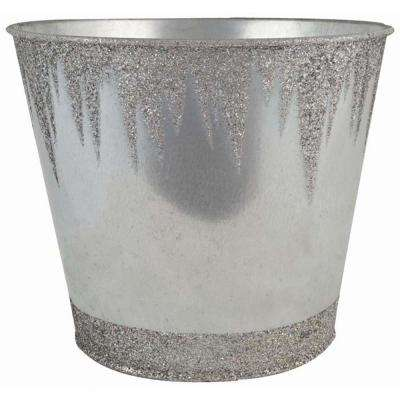 Frozen 7 in. Dia. Galvanized Tin Pot