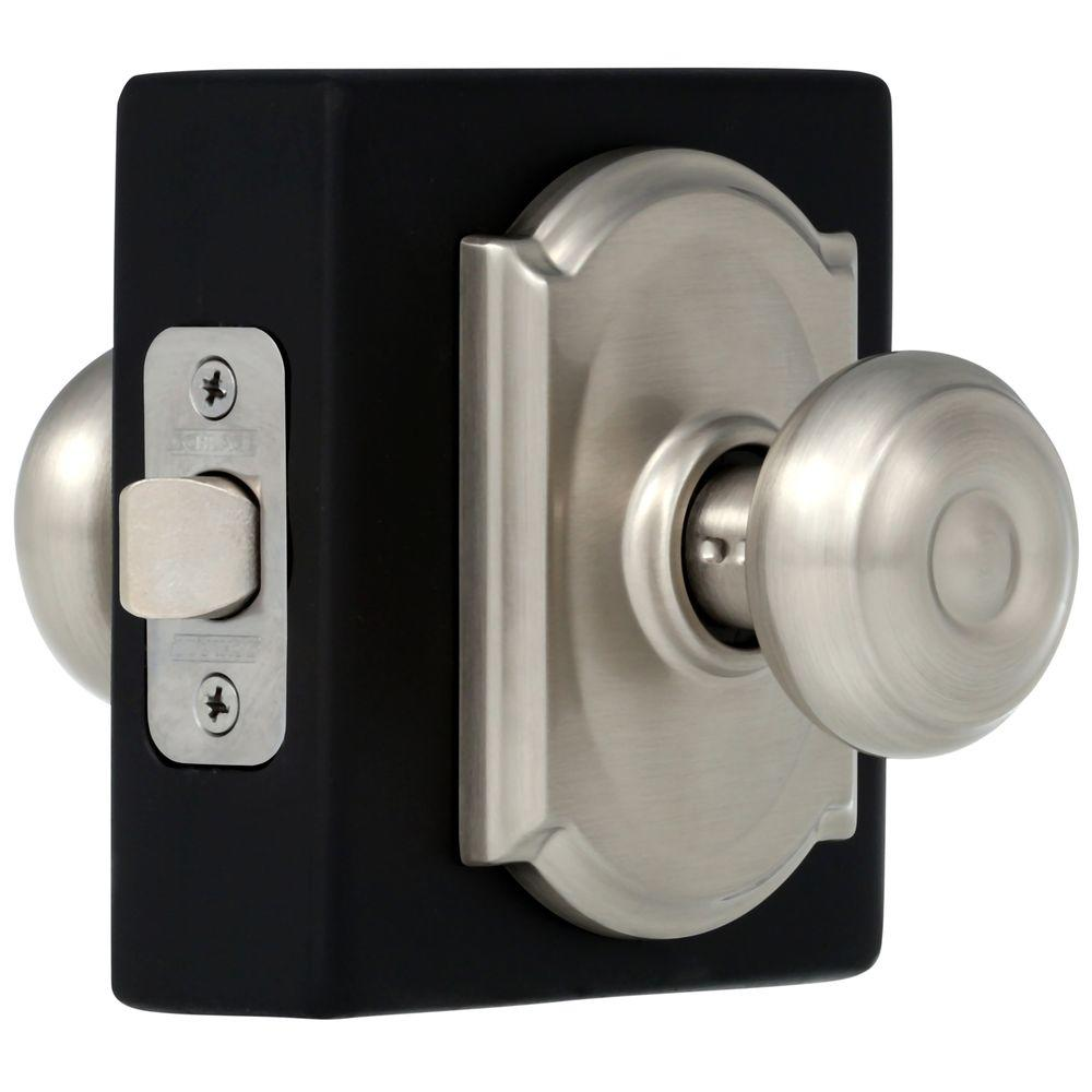 Schlage Camelot Georgian Satin Nickel Hall And Closet Knob