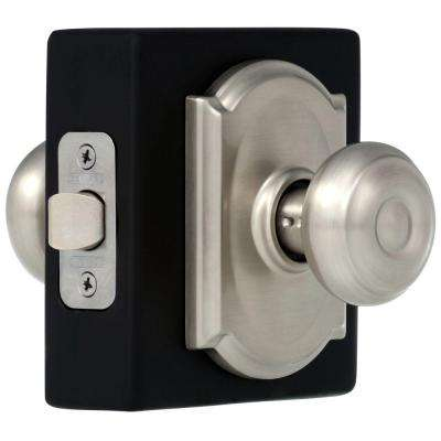 Georgian Satin Nickel Passage Hall/Closet Door Knob with Camelot Trim