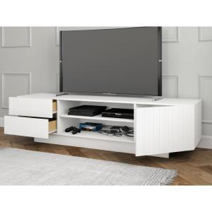 Excellent Nexera Marble 72 In White Tv Stand 115403 The Home Depot Evergreenethics Interior Chair Design Evergreenethicsorg