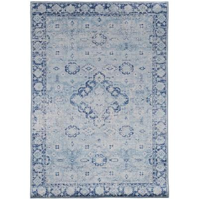 Echelon Brea Blue/Ivory 3 ft. 3 in. x 5 ft. Accent Rug