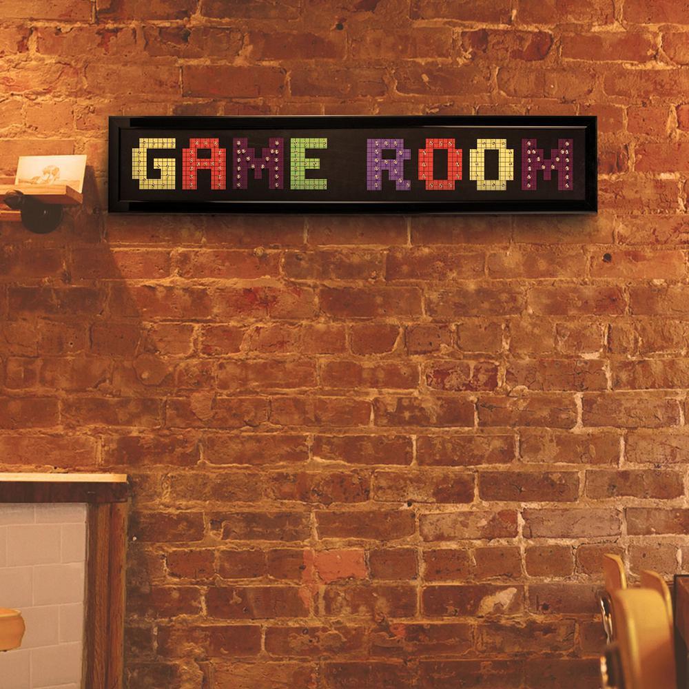 Game Room: Crystal Art Gallery Game Room Framed LED Sign-114060